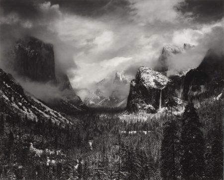 Ansel Adams-Clearing Winter Storm, Yosemite National Park, Ca.-1937