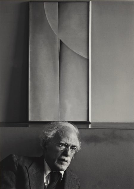 Ansel Adams-Selected Images Of Alfred Stieglitz('Alfred Stieglitz at his desk at An American Place, New York City' and 'Alfred Stieglitz and painting by Georgia O'Keeffe, at An American Place, New York City')-1944
