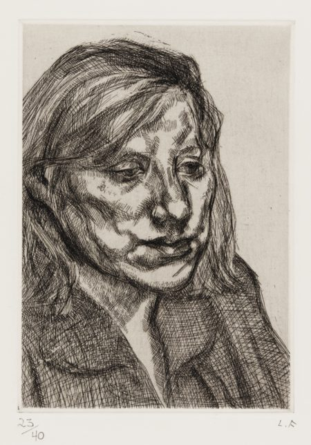 Lucian Freud-Head Of Ib (H. 35; Figura 54)-1988