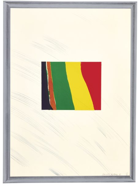 David Hockney-A Hollywood Collection: Picture Of A Pointless Abstraction Framed Under Glass (S.A.C., Mca Tokyo 46)-1965