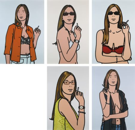 Julian Opie-Ruth Smoking (A. C. 90-94)-2006
