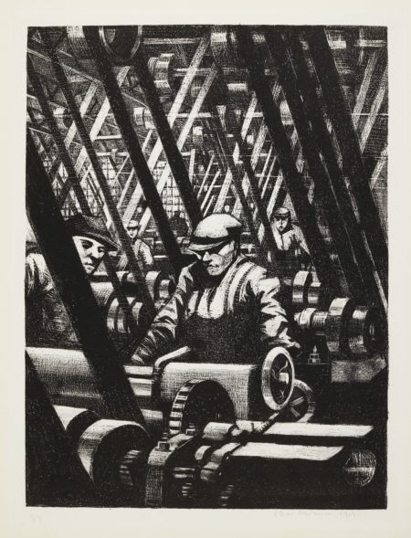 Christopher R. W. Nevinson-Britains Efforts And Ideals: Making Aircraft: Making The Engine (Black 16; Leicester Galleries 27)-1917