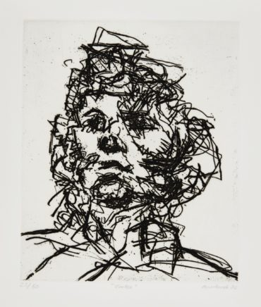 Frank Auerbach-Seven Portraits: Julia; David; Catherine; J.Y.M.; Michael; Geoffrey; And Jake (Malborough Graphics 15-21)-1990