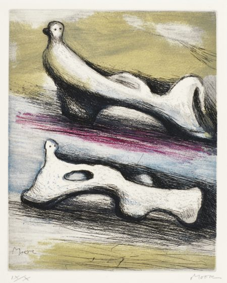 Henry Moore-Two Reclining Figures (C. 669)-1983