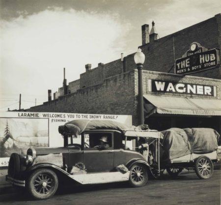 John Gutmann-Oakies On Their Way West, Wyoming-1936