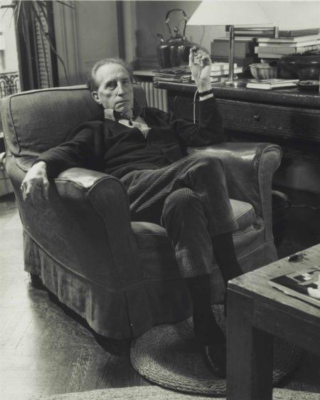 John D. Schiff-Marcel Duchamp Sitting In Armchair-1950