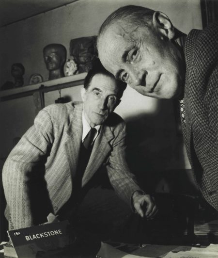 Robert Doisneau-Jacques Villon And Marcel Duchamp, November-1950