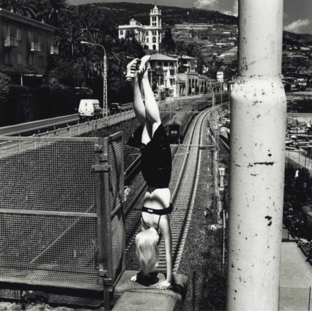 Helmut Newton-Dangerous Legs, Woman Doing Handstand, Bordighera-1996