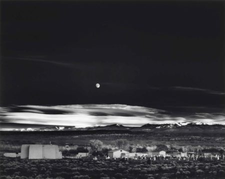 Ansel Adams-Moonrise, Hernandez, New Mexico-1941