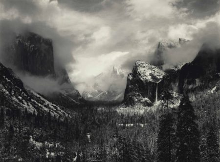 Ansel Adams-Clearing Winter Storm, Yosemite National Park, California-1938