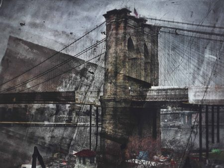 Abelardo Morell-Tent–Camera Image On Ground: Rooftop View Of The Brooklyn Bridge–Brooklyn Side-2011