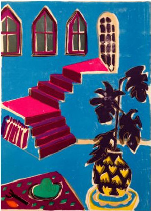 Rose Electra Harris-Pink Stairs A/P-