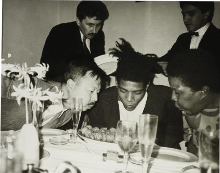 Andy Warhol-Jean-Michel Basquiat, Basquiats Mother And Friends (3)-1984