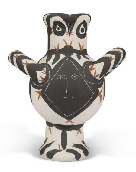 Pablo Picasso-Gros Oiseau Visage Noir (A. R. 118)-1951