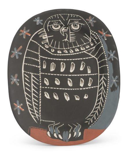 Pablo Picasso-Hibou Mat (A. R. 284)-1955