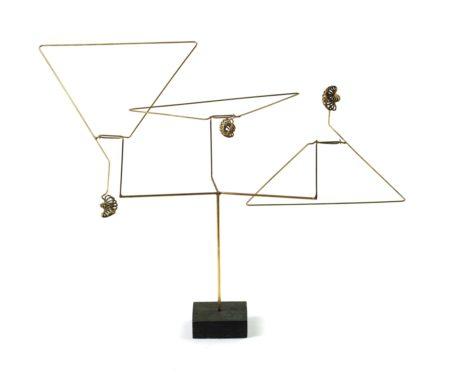George Rickey-Three Triangles With Spirals-1973