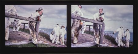 Allan Sekula-Volunteer Watching Volunteer Smiling (Isla De Ons, 12-19-02)-2003
