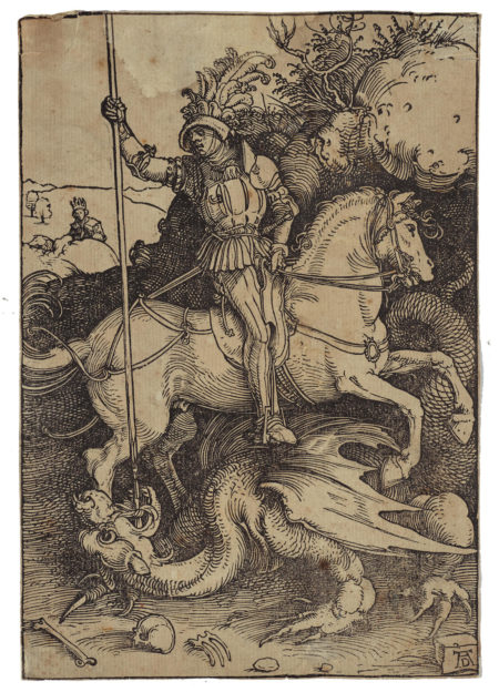 Albrecht Durer-St. George And The Dragon (B. 111; M., Holl. 225)-1504