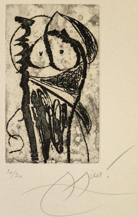 Joan Miro-Pls. IV, VII, IX, From Saltimbanques 3 (D. 720, 723, 725)-1975