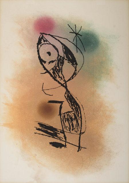 Joan Miro-La Fine Mouche (D. 1023)-1978