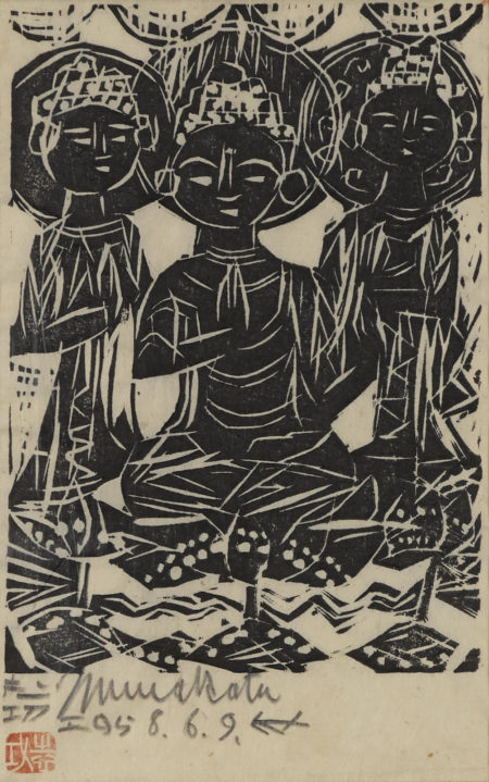 Shiko Munakata-Three Seated Deities-1958