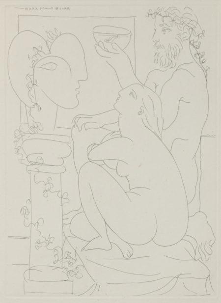 Pablo Picasso-Sculpteur Avec Coupe Et Modele Accroupi, Pl. 44, From La Suite Vollard (B. 152; Ba. 304)-1933