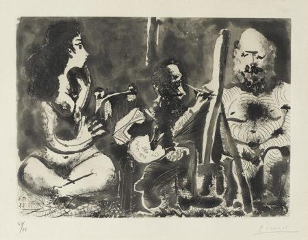 Pablo Picasso-Les Bleus De Barcelone-1963