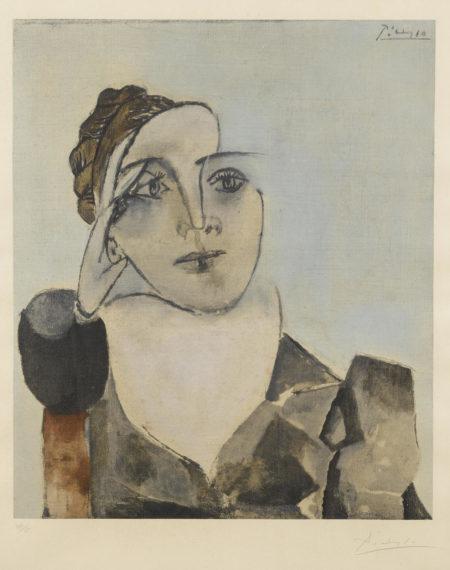 After Pablo Picasso - Portrait De Dora Maar-1960