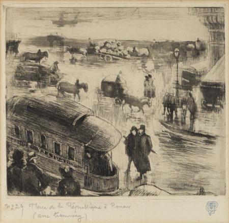 Camille Pissarro-Place De La Republique, A Rouen (D. 65)-1886