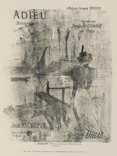 Henri de Toulouse-Lautrec-Adieu (W. 124; D. 129; Adr. 145)-1895
