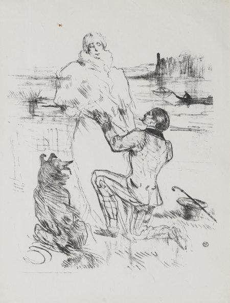 Henri de Toulouse-Lautrec-Les Hirondelles De Mer; Hommage A Moliere; Declaration (Premiere Planche) 3Les Hirondelles De Mer; Hommage A Moliere; Declaration (Premiere Planche) (W. 133, 231, 305; D. 138, 220, 327; Adr. 156, 272, 263)-1898