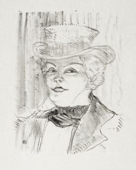 Henri de Toulouse-Lautrec-Madame Rejane (W.; D. 266; Adr. 57)-1898