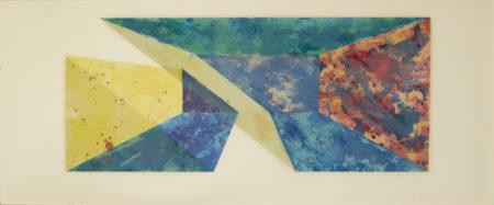 Ron Davis-Diagonal Slice, From Rectangle Series; Yellow Slab (G. 366; 1125)-1983
