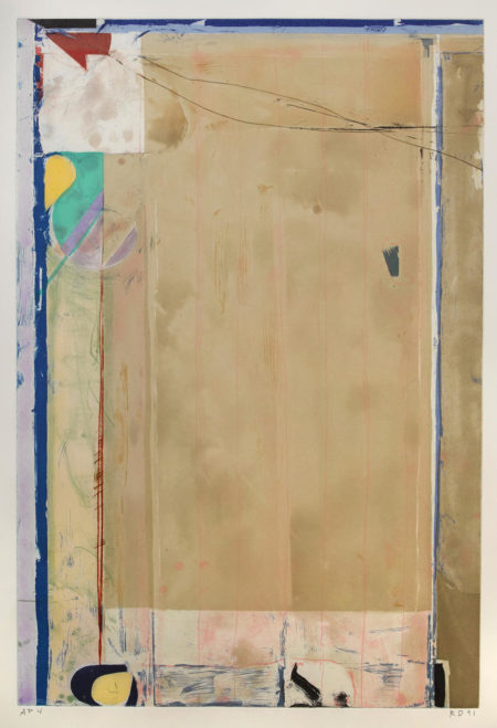 Richard Diebenkorn-Touched Red-1991