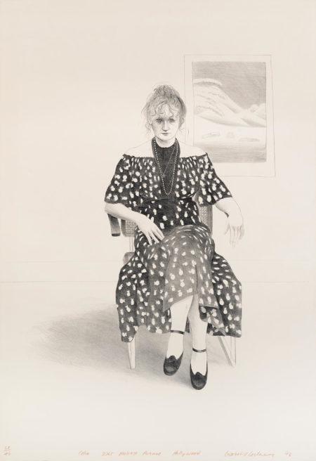 David Hockney-Celia 8365 Melrose Ave., Hollywood (G. 448; S.A.C. 147; Tokyo 138)-1973