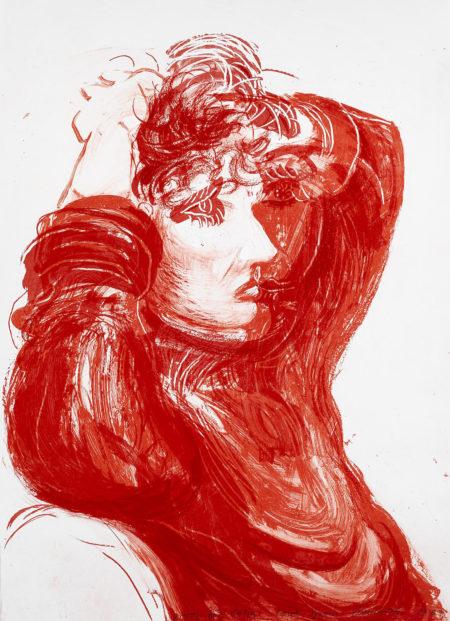 David Hockney-Red Celia (T. 273)-1984