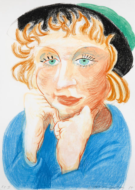 David Hockney-Celia With Green Hat (T. 274)-1985