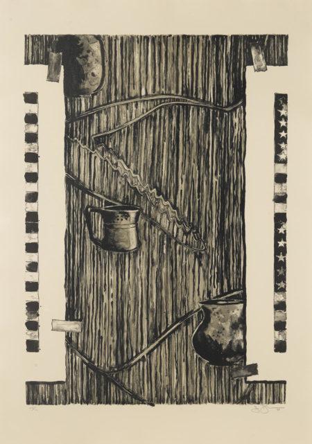 Jasper Johns-Ventriloquist (Black) (Ulae 233)-1986