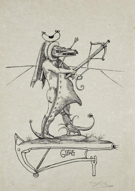 Salvador Dali-Les Songes Drolatiques De Pantagruel (M./L. 1398-1422D; F. 73-7)-1973