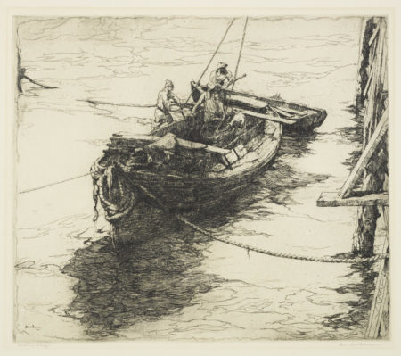 Armin Carl Hansen - Sardine Barge (W. 43)-1922