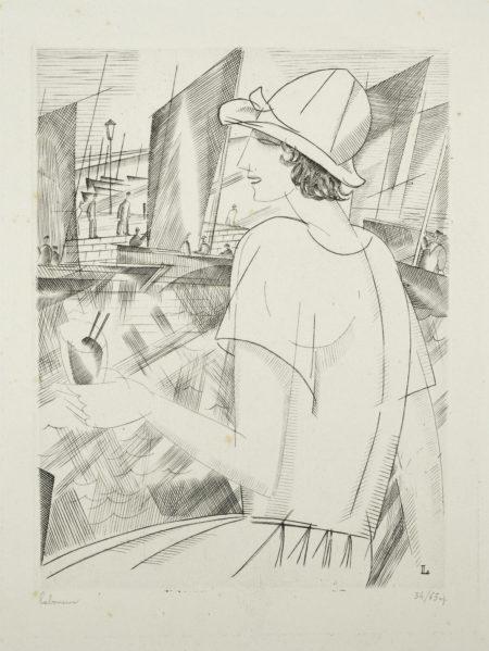 Jean-Emile Laboureur-Jeune Fille Au Cocktail (L. 224)-1921