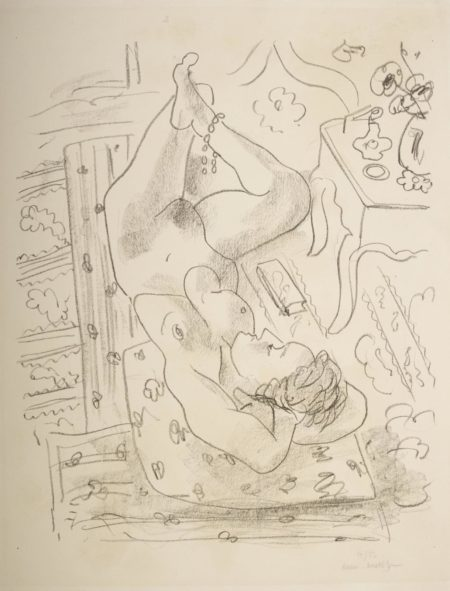 Henri Matisse-Nu Renverse Pres Dune Table Louis Xv (D. 499)-1929