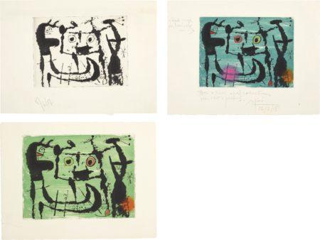 Joan Miro-Le Styx: Three Impressions-1958