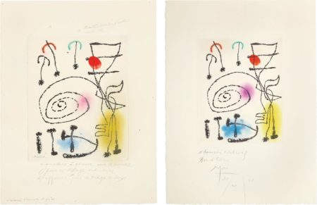 Joan Miro-La Mesure Du Temps (The Measure Of Time): Two Impressions-1960