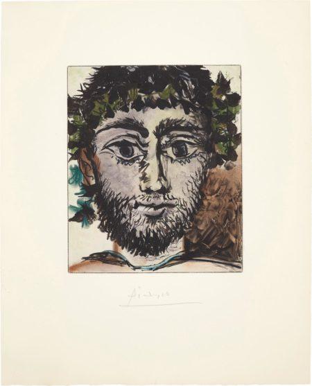 After Pablo Picasso - Tete De Faune (Head Of A Faun)-1960