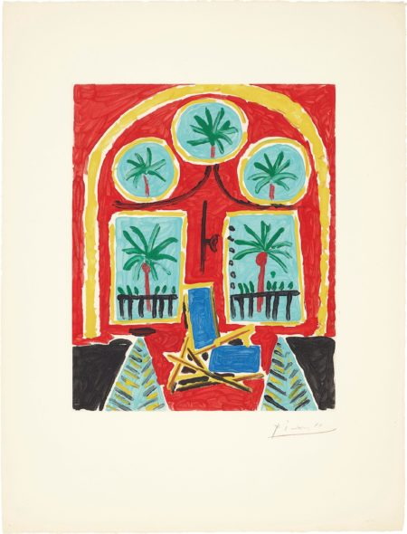 After Pablo Picasso - La Californie (Interieur Rouge) (La Californie - Red Interior)-1960