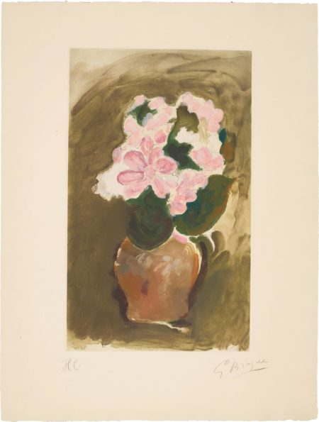 After Georges Braque - Bouquet Dans Un Vase (Bouquet In A Vase)-1953