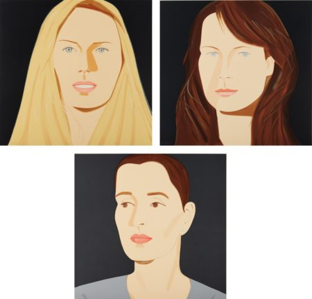 Alex Katz-Three Portraits-2012
