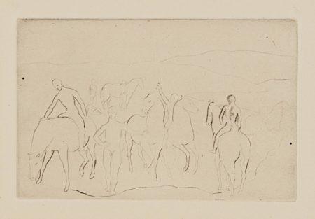 Pablo Picasso-Labreuvoir (Chevaux Au Bain), From La Suite Des Saltimbanques-1905
