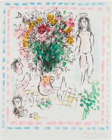 Marc Chagall-Le Bouquet De La Reine-1984